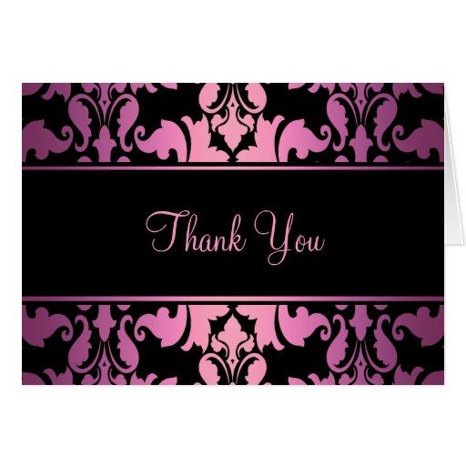 El damasco real rosado le agradece cardar felicitaciones