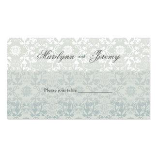 El damasco remolina tabla del cordón/tarjeta de tarjetas de visita