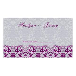 El damasco remolina tarjeta del lugar de la tarjetas de visita