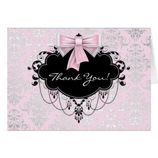 El damasco rosado bonito le agradece