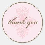 El damasco rosado le agradece pegatina