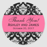 El damasco rosado, negro del boda le agradece etiq