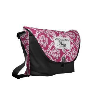 El damasco rosado, profesores tiene clase bolsas de mensajería