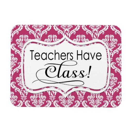 El damasco rosado, profesores tiene clase iman rectangular