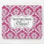 El damasco rosado, profesores tiene clase tapetes de raton