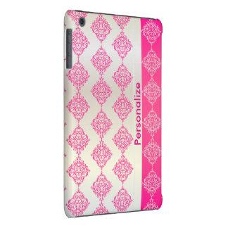 El damasco rosado y blanco rico brillante el | carcasa para iPad mini