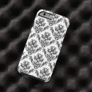 El damasco veneciano, ornamentos, remolina - funda para iPhone 6 tough