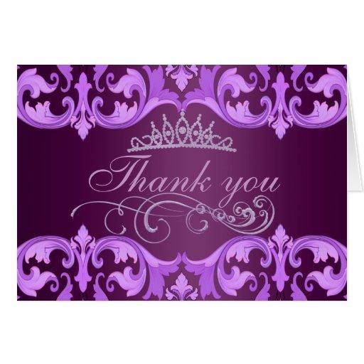 El damasco y la tiara púrpuras le agradecen cardar tarjeta de felicitación