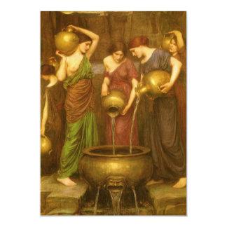 El Danaides por el Waterhouse, arte del Victorian Invitacion Personalizada