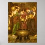 El Danaides por el Waterhouse, arte del Victorian Posters
