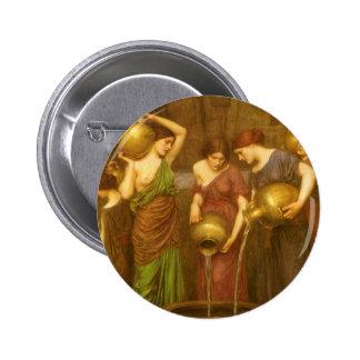 El Danaides por el Waterhouse, arte del Victorian Chapa Redonda 5 Cm