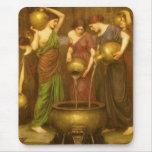 El Danaides por el Waterhouse, arte del Victorian Tapetes De Ratones