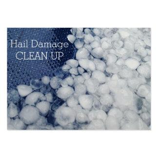 El daño estacional tempestuoso del saludo limpia plantilla de tarjeta de visita