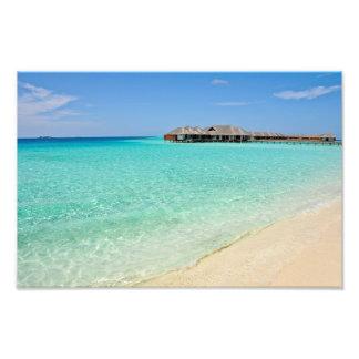 El dar la bienvenida caliente. Maldivas Impresiones Fotográficas