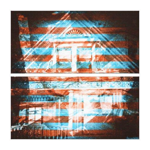 el darkside: casas del victorian de San Francisco Impresiones En Lona Estiradas