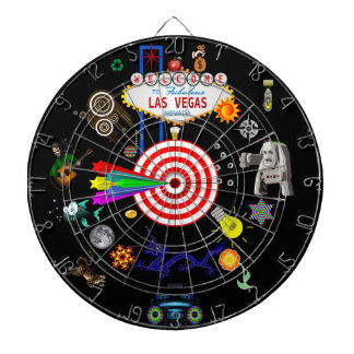 El Dartboard de objetivos múltiples del juego de