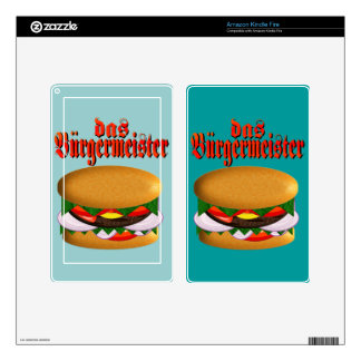 el das Burgermeister enciende la piel del fuego Skin Para Kindle Fire