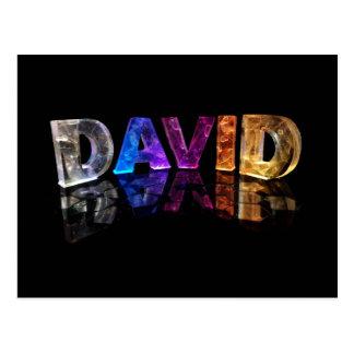 El David conocido en 3D se enciende (la Postal
