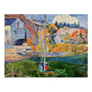 El David-Molino en Pont-Aven de Gauguin Paul Postales