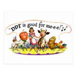 El DDT retro del anuncio del kitsch del vintage es Postal