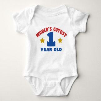 El de 1 año más lindo del mundo mameluco de bebé