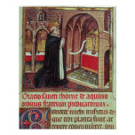 EL de Aquinas'Libro de Horas de Alfonso Póster