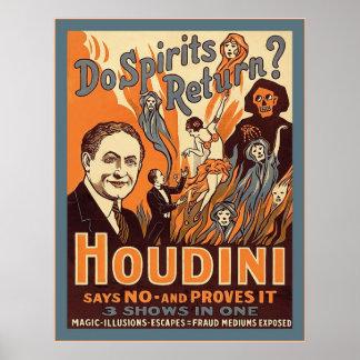 ¿El ~ de Houdini hace vuelta de las bebidas espiri Posters