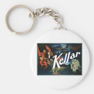 El de Kellar el acto mágico del vintage del diab Llavero Personalizado