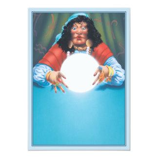 """El © de la bola de cristal invitación 5"""" x 7"""""""