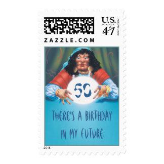 El © de la bola de cristal timbre postal