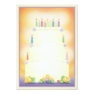 """El © de la fiesta de cumpleaños invitación 5"""" x 7"""""""