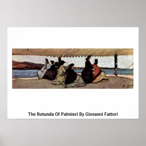 El de la Rotonda de Palmieri de Giovanni Fattori Impresiones