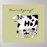 ¿Él de la vaca que va? Impresión del poster
