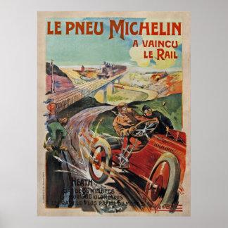 El de los neumáticos de Michelin derrotó el carr Posters