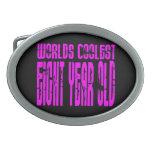 El de ocho años más fresco de los 8vos mundos rosa hebillas cinturón ovales