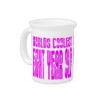 El de ocho años más fresco de los 8vos mundos rosa jarra para bebida