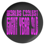 El de ocho años más fresco de los 8vos mundos rosa platos