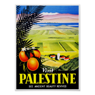 El ~ de Palestina de la visita considera la bellez Póster