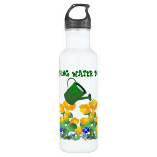 El ~ de restauración del agua embroma la botella