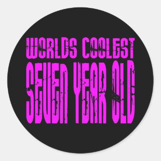 El de siete años más fresco de los 7mos mundos pegatina redonda