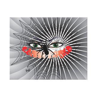 El de spi Women, Donna/ragno presión en lienzo de  Impresión En Lienzo Estirada