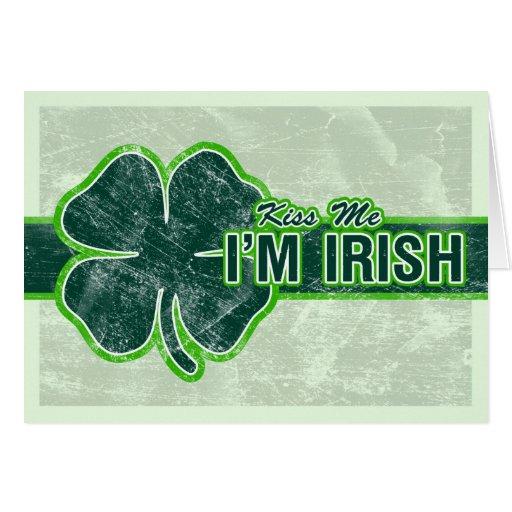 El ` de St Patrick me besa' tarjeta del Grunge del