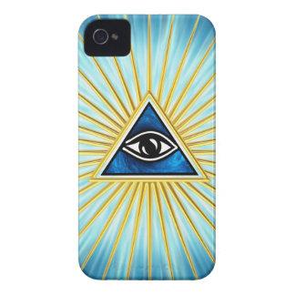 El de vista de todo de ojo dios, pirámide, francma iPhone 4 funda