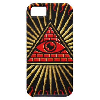 El de vista de todo de ojo dios, pirámide, provide iPhone 5 carcasa