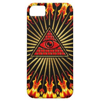 El de vista de todo de ojo dios, pirámide, provide iPhone 5 fundas