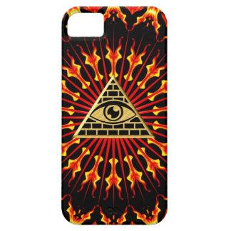 El de vista de todo de ojo dios, todo seeing eye iPhone 5 carcasas