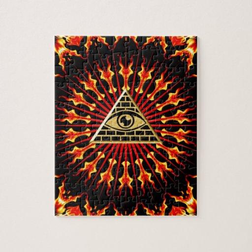 El de vista de todo de ojo dios, todo seeing eye puzzle