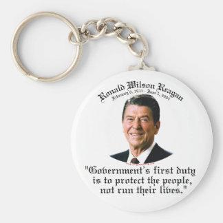 El deber del gobierno de Reagan Llavero Redondo Tipo Pin