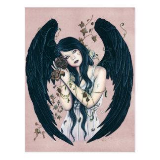 El decaimiento gótico Wither del ángel florece la Tarjeta Postal