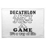 El Decathlon no es apenas un juego que es una mane Manteles